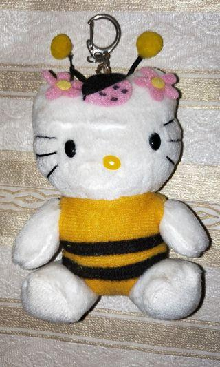 Authentic Hello Kitty 11cm Bee Plush Keychain