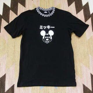 Cotton On CO Disney Mickey Mouse Black Top
