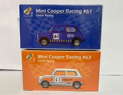 Tiny 微影合金車 Mini Cooper Racing #61 & #63 classic