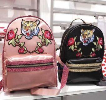 Original ALDO tiger backpack tas ransel Import China pink hitam