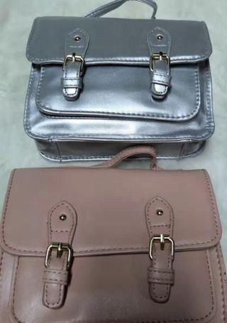 Mini ASOS Satchel Sling Bag Import / pink silver