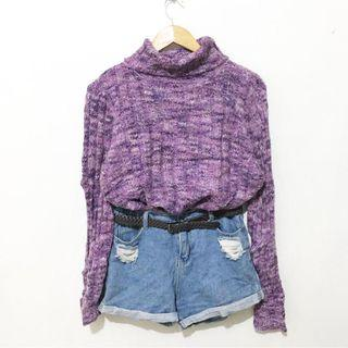 BUY1 TAKE1 plum turtle neck sweater