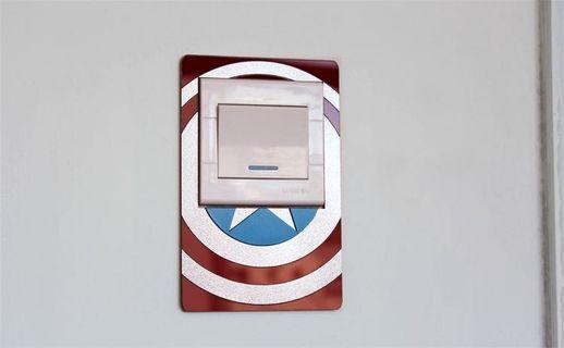 包郵 Marvel Spiderman Light Switch Cover 蜘蛛俠燈制貼
