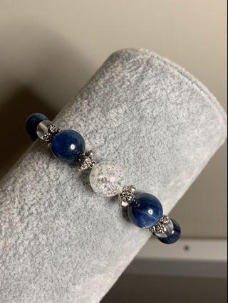 白水晶+藍晶石水晶設計鏈
