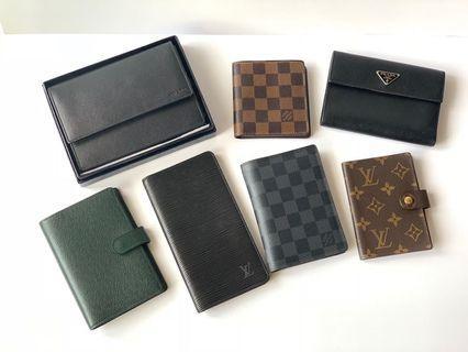 Authentic Louis Vuitton Prada Gucci Bottega Wallet