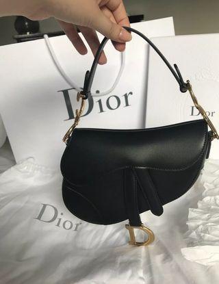 Authentic Dior Saddle Black Bag