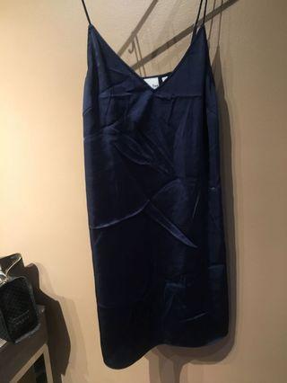 Wilfred dark blue silk dress