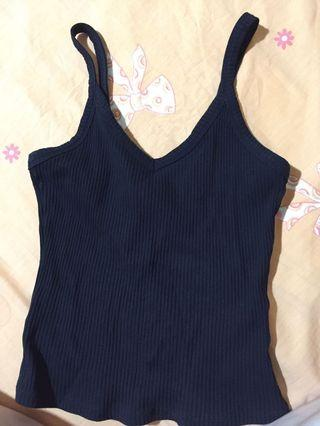 Temt miss valley black sleeveless TOP tank