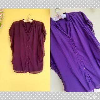 ⛔Cuci Gudang⛔ Purple Top