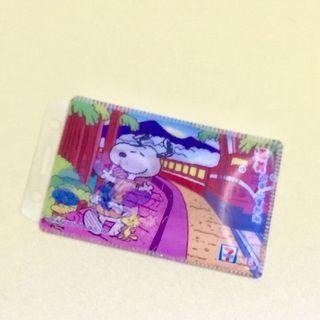 [全賣場限時滿750免運] 3D表面史奴比Snoopy塑膠卡套悠遊卡套 學生證 票卡夾