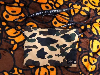 BAPE x PORTER Yellow Camo Shoulder Bag
