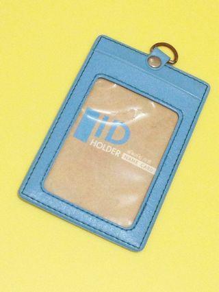 [全賣場限時滿750免運] 天藍色合成皮革識別證卡套 悠遊卡 學生證 證件套
