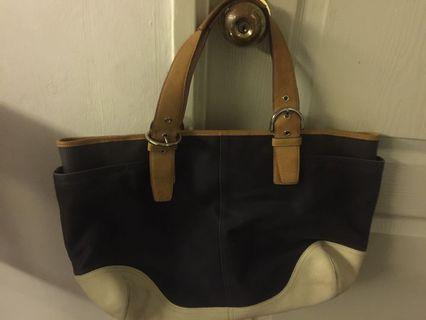 "Coach handbag - can fit 15"" laptop"