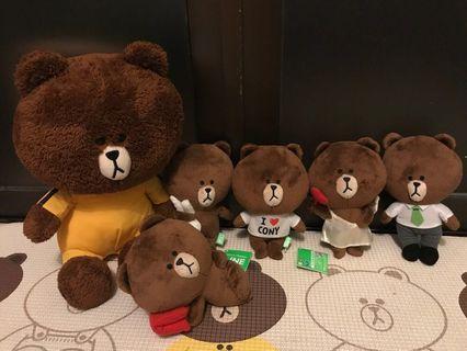 Line Friends 李小龍熊大