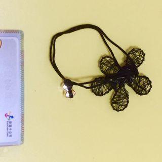 [全賣場限時滿750免運] 髮圈部份無彈性金屬風黑色花朵🌺髮圈髮繩 蝴蝶結🎀 綁頭髮