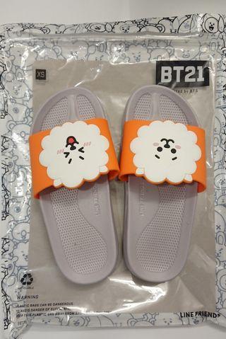 BTS BT21 KPOP KOREA JIN RJ SLIDES SLIPPERS SHOES + FREE GIFT