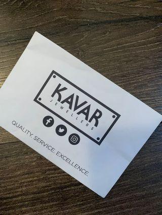 KAVAR gift card