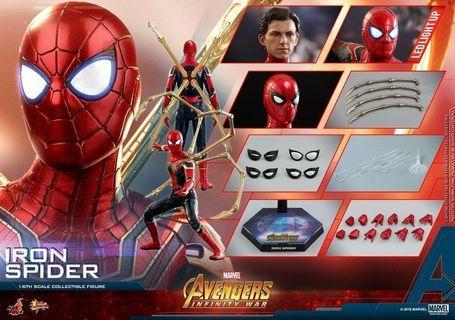 (已可取貨 訂單) Iron Spider 鋼鐵蜘蛛俠 (The Avengers: Infinity War 復仇者聯盟 無限之戰) Hot Toys hottoys MMS482 spiderman spider man Peter Parker Tom Holland ironman iron man Marvel