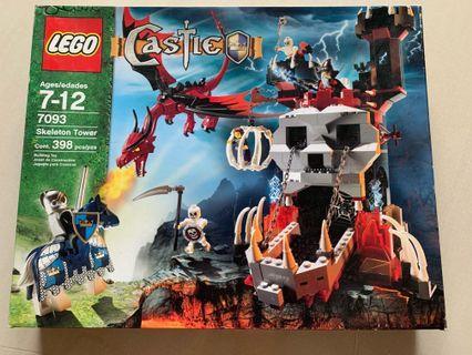 New in box LEGO 7093 castle skeleton tower