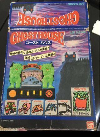 中古童年回憶Bandai Ghost House 遊戲機 ~ Made in Japan@1985 Retro