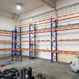 Warehouse Racks For Sale... Per Section 2 Blue, 2 Shelves (4pcs Orange) Only  $450 , Height ..call 90899511