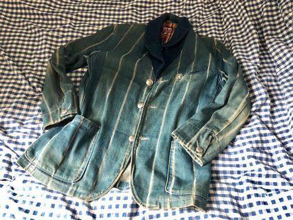 BLUEBLUE japan denim shawl collar jacket 牛仔 fdmtl