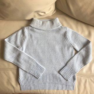 Baby blue turtle neck knit sweater