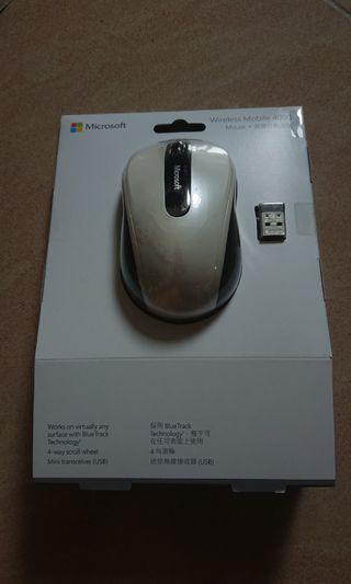 無線mouse Microsoft wireless mobile 4000