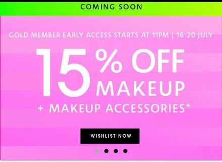 Sephora makeup sales!!! 15% off Storewide