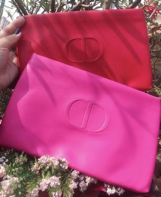 Dior large pink red pouch (dual colors)