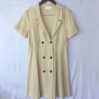 Unbranded khaki button dress (on trend!)