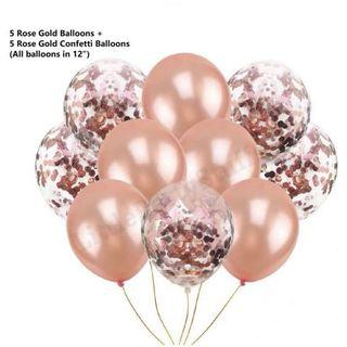Confetti Balloons Of 10pcs (Rose Gold)
