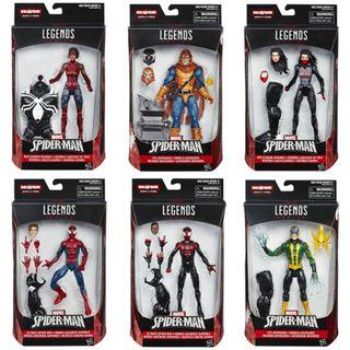 Set of 6 figures - Marvel Legends Spider-Man Wave 4 (Space Venom BAF)