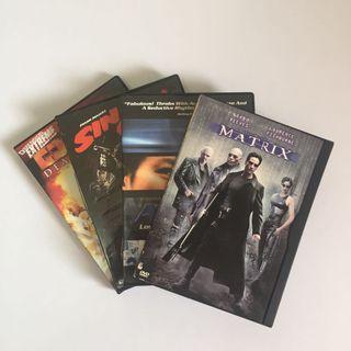 SET OF 4 Orig DVD Movies SciFi Thriller Suspense Crime Game