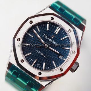 BNIB Audemars Piguet Royal Oak 15450 ST RARE BLUE Dial