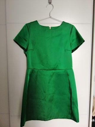 Topshop綠色連衣裙