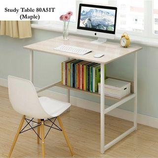 Free delivery (80x40cm) computer table desk with storage