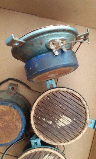 古董 鋼磁喇叭 四個 約兩吋