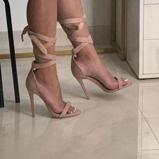 Billini nude suede heels