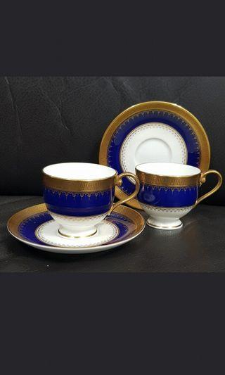 Narumi classic real gold cup and saucer*2