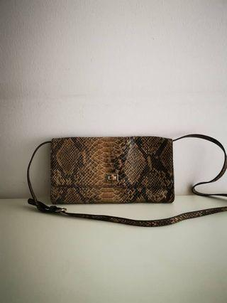 Esprit crocodile skin sling bag