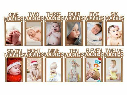 🚚 Baby monthly photo banner