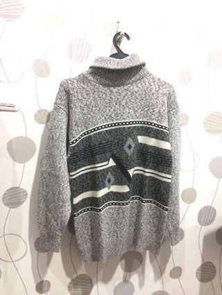 Turtleneck Pattern Sweater