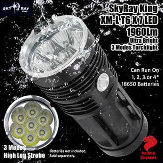 SkyRay King XM-L T6 X 7 LED 1960Lm Ultra Bright 3 Modes