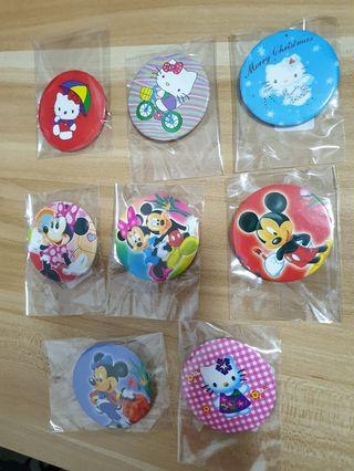 🚚 Mickey & Kitty Badges Pin