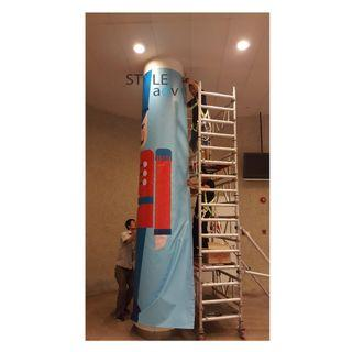 Custom PVC Pillar Wrap