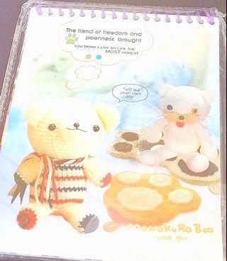 可愛針織熊仔圖案-小筆記記錄簿