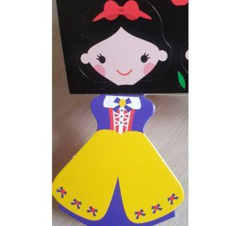 DIY Princess Theme Frozen, Mermaid, Snow white party Lollipop Invitations / Paper Card Decoration