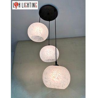 LSH Lighting Simple 3 Light Pendant Ceiling Light 19109/3