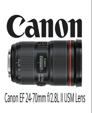 Canon EF 24-70mm F2.8 L IS ll USM Lens